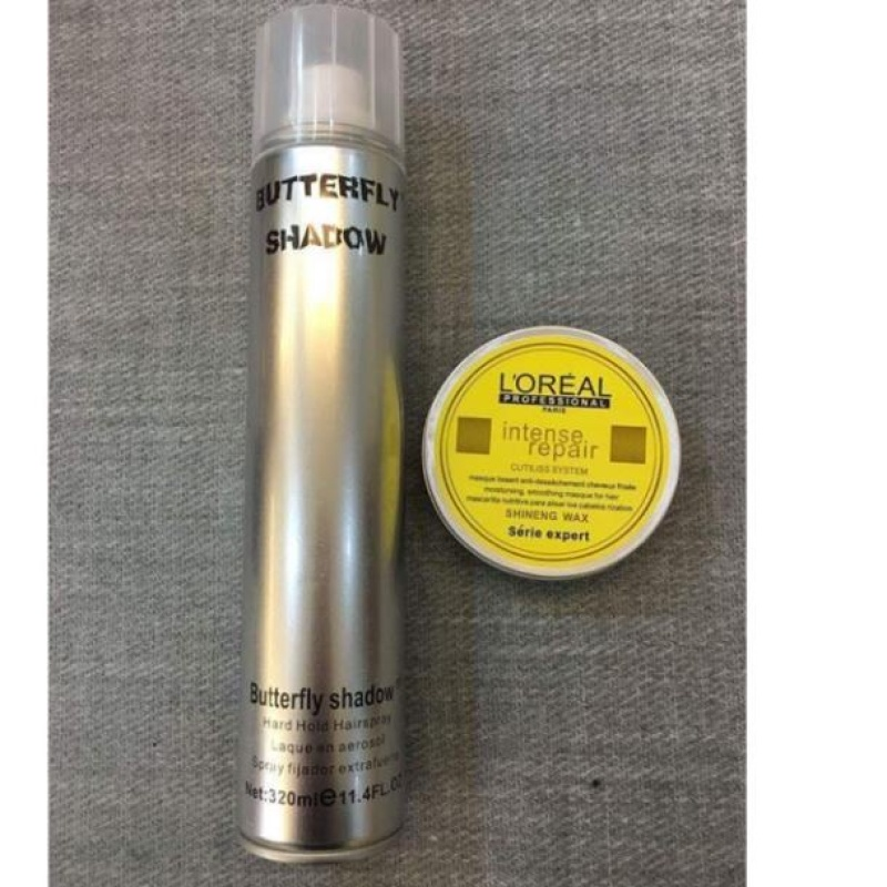 Gôm xịt ButterFly Shadow 320ml và sáp vuốt tóc thông dụng giá rẻ