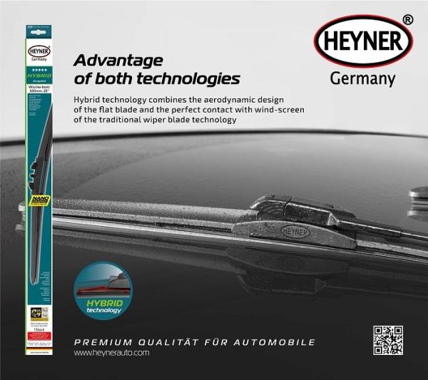 Gạt mưa Xương mềm lõi thép HEYNER Hybrid Nano Graphit