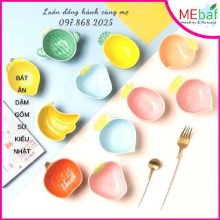 Bát Ăn Dặm Gốm Sứ Hình Hoa Quả Trái Cây Nhiều Mẫu, MEBAF thumbnail