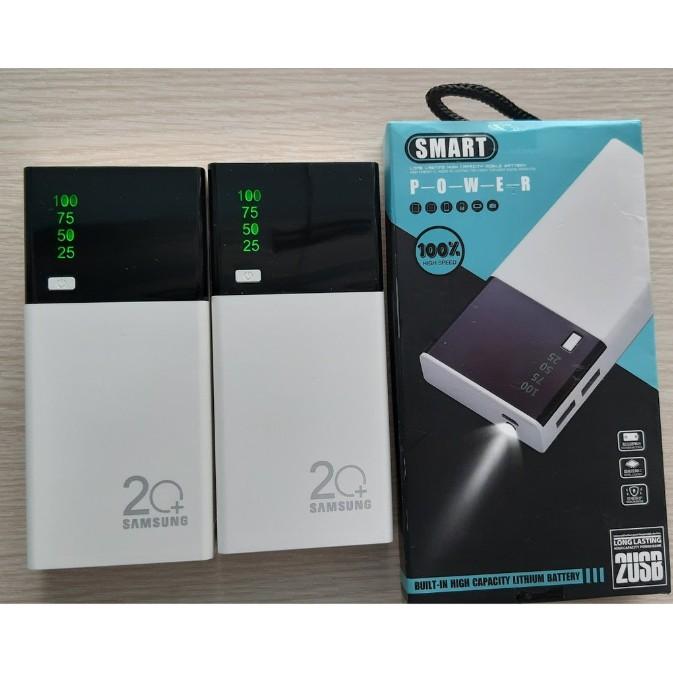 Pin Sạc Dự Phòng SMART Dung Lượng 30000mAh Màn LED Có Đèn Pin Loại 1. Có màn hình hiển thị. Dung lượng: 300000mAh. Loại pin: Pin lithium. 2 Đầu ra USB, Đèn LED với đèn báo nguồn LED hiển thị, bất cứ lúc nào điều khiển nguồn.