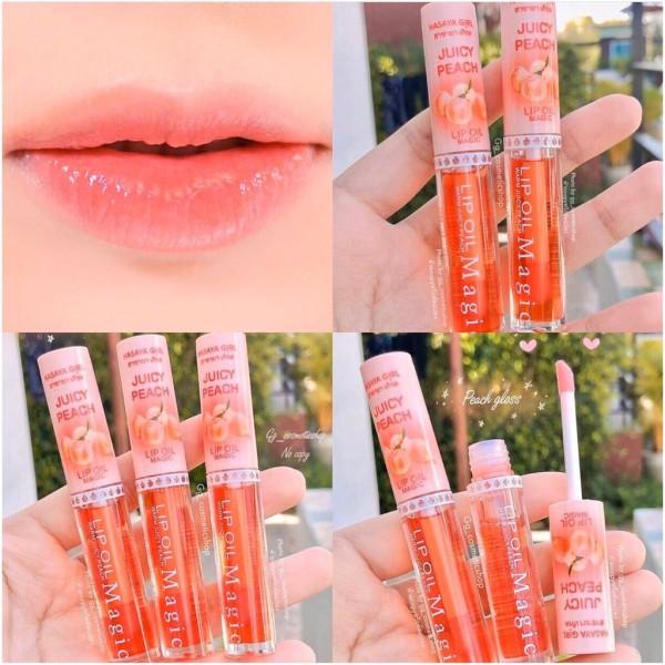 son dưỡng căng bóng môi hồng môi đào juicy peach lazada hàng chuẩn nội địa thái lan[HOT]