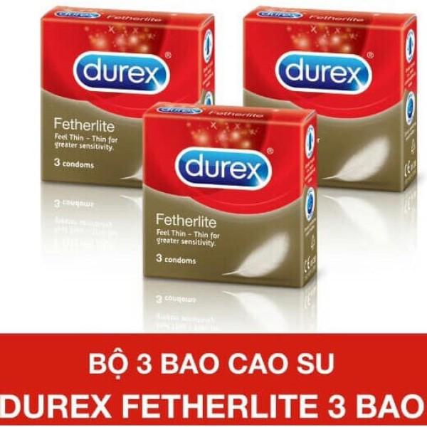 ( Bao Giá Toàn Quốc ) Bao Cao Su Durex Fetherlite Hộp 3 Bao [ Che Tên Sản Phẩm Khi Giao Tuyệt Đối Bí Mật ]