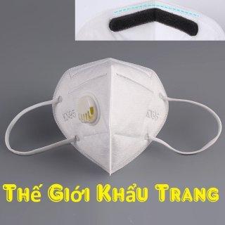 Hộp 10 Cái Khẩu trang y tế N95 KN95 5 lớp Cao Cấp, có van thở, chống bụi mịn PM2.5, có kẹp kim loại chắc chắn ở sống mũi thumbnail