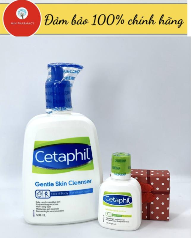 [TẶNG SỮA DƯỠNG ẨM CETAPHIL 59ml] Sữa rửa mặt CETAPHIL gentle skin 500ml- Minpharmacy giá rẻ