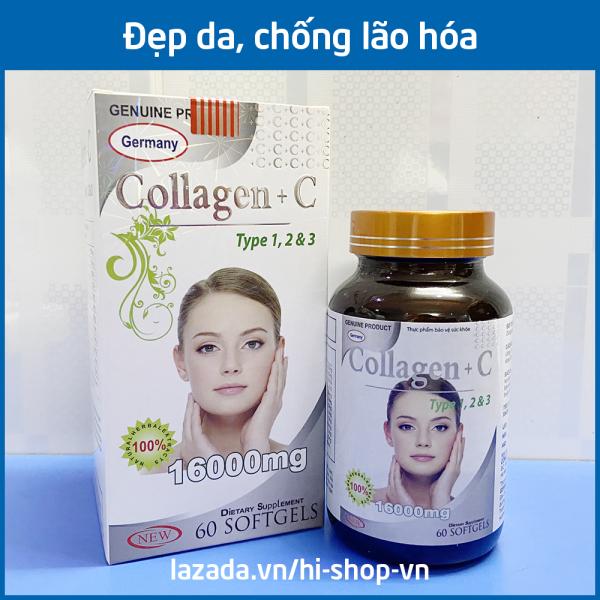 Viên uống đẹp da Collagen +C Type 123 giảm thâm nám tàn nhang, ngừa nếp nhăn, chống lão hóa - Hộp 60 viên