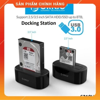 Đế ổ cứng (Docking) 1 khe cắm ORICO 6218US3 3.5 và 2.5 SATA 3 USB 3.0 - Hàng phân phối thumbnail