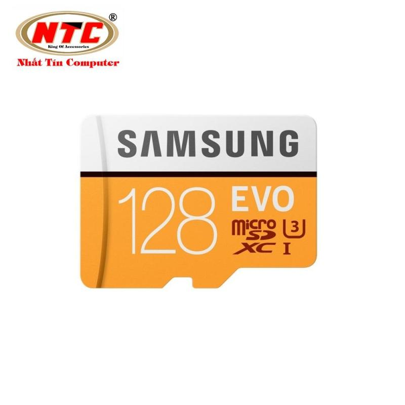 Thẻ Nhớ MicroSDXC Samsung Evo 128gb UHS-I U3 4K 100MB/s (Cam)