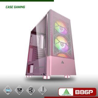 Case Máy tính B86P màu hồng mặt lưới kính cường lực cực đẹp hàng cao cấp, Vỏ Thùng máy tính mẫu mới bán chạy, Vỏ case cho máy tính siêu sang đẳng cấp thumbnail
