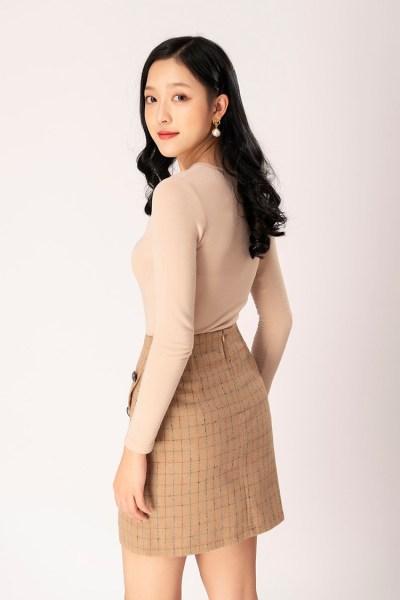 Nơi bán Chân váy nữ  vạt chéo GUMAC VB1264
