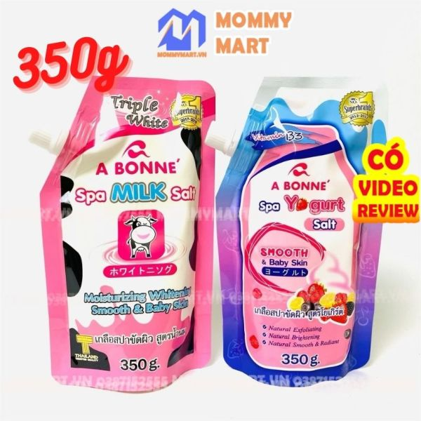 Muối Tắm Sữa Bò, Sữa Chua Tẩy Tế Bào Chết A Bonne Spa Milk Salt 350g Tẩy Sạch, Dưỡng Ẩm, Làm Trắng Da - Mommymart