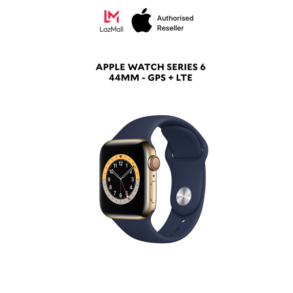 Apple Watch Series 6 44mm LTE bản viền thép - Hàng Chính Hãng