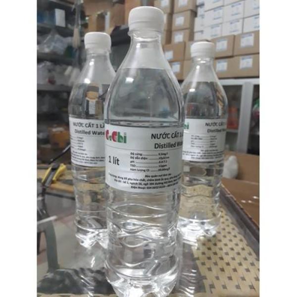Nước cất 1 lần - chai 1 lít