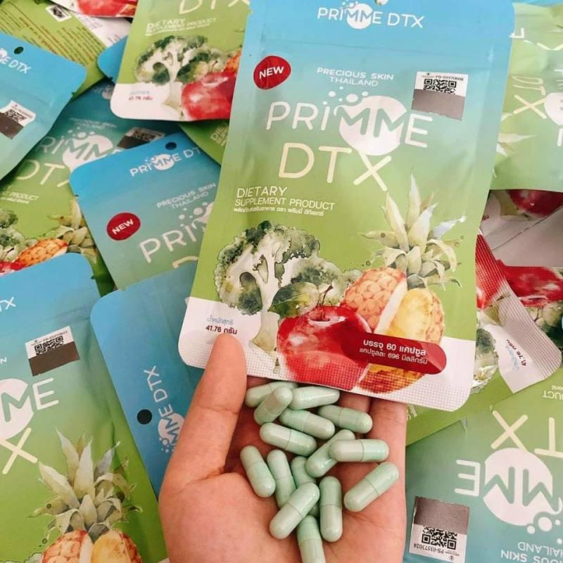 Detox thái -Trà trái cây giảm cân Primme detox thái lan đẹp da mẫu mới