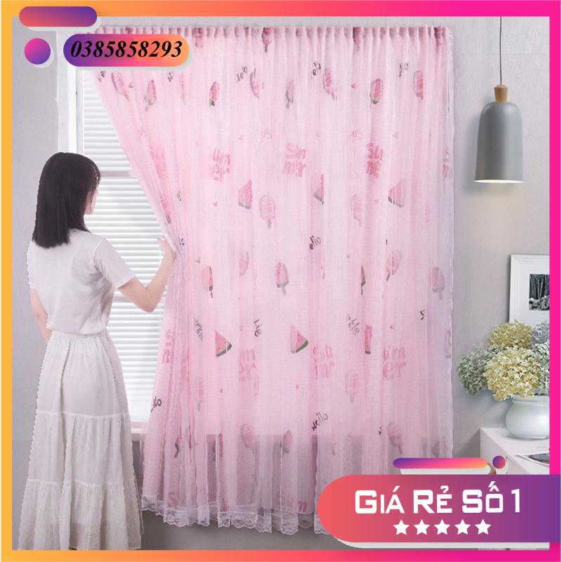 [CHỌN SIZE] Rèm cửa dán tường 2 lớp hiện đại thiết kế tự dính không cần khoan lỗ -Rèm trang trí phòng ngủ đẹp mắt độc đáo