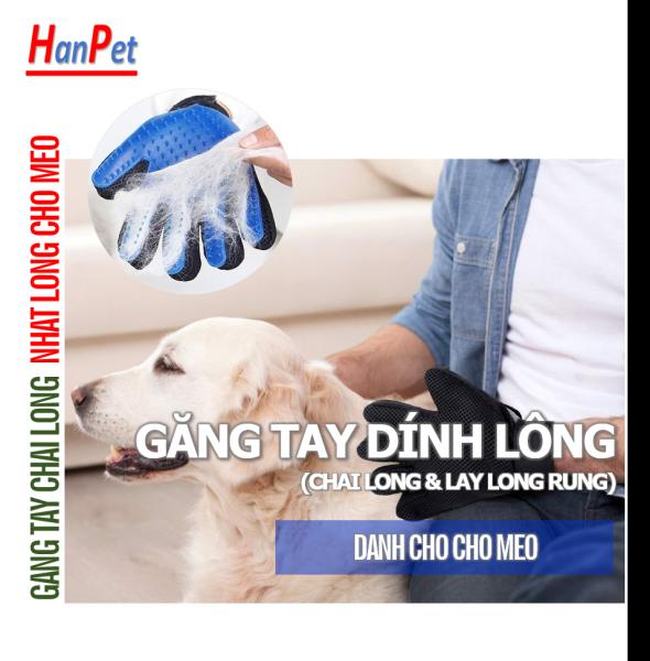 (1 chiếc)  GĂNG TAY CHẢI LÔNG THÚ CƯNG (có thể bám dính lông chó mèo) chải lông và nhặt lông chó mèo