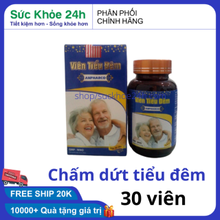 VIÊN TIỂU ĐÊM CHẤM DỨT TIỂU ĐÊM, TIỂU NHIỀU LẦN, TIỂU RẮT, TIỂU KHÔNG TỰ CHỦ DÙNG CHO CẢ NAM VÀ NỮ - LỌ 30 VIÊN 4.9 dùng HSD 2023 , sức khỏe 24h thumbnail