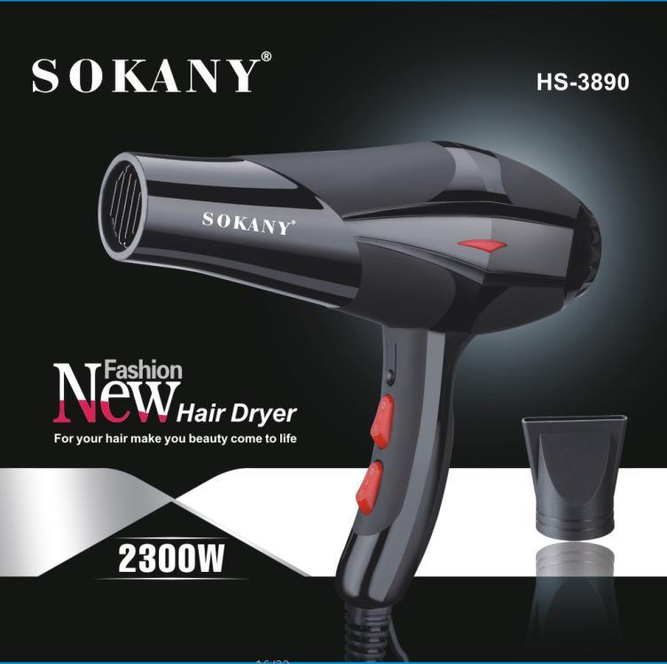 Máy sấy tóc SOKANY 2300W - 3 chế độ chuyên dụng trong salon [ TẶNG đầu sấy tạo kiểu ] chính hãng
