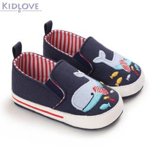 Kidlove 1 Đôi Giày Em Bé, Giày Trẻ Tập Đi Đế Mềm Thêu Hình Động Vật Bằng Vải Bố Cho Bé 3-12 Tháng Tuổi Nhé