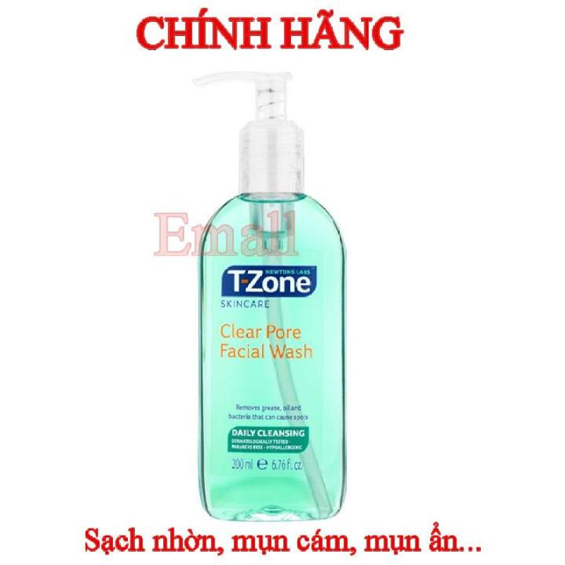 Sữa rửa mặt tràm chà sạch lỗ chân lông T-Zone Clear Pore Facial Wash 200ml nhập khẩu