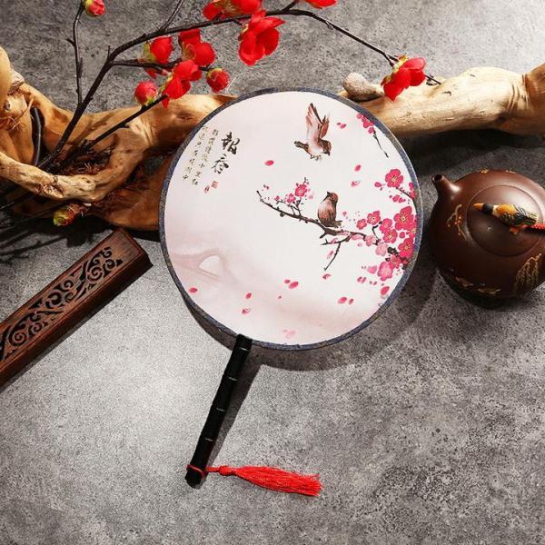 Quạt tròn cổ trang loại nhỏ, Quạt tròn cổ trang Trung Hoa
