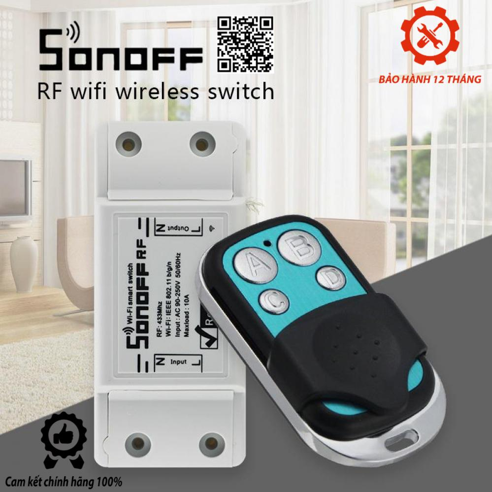 ComBo Công Tắc Sonoff Wifi RF 433Mhz + Remote