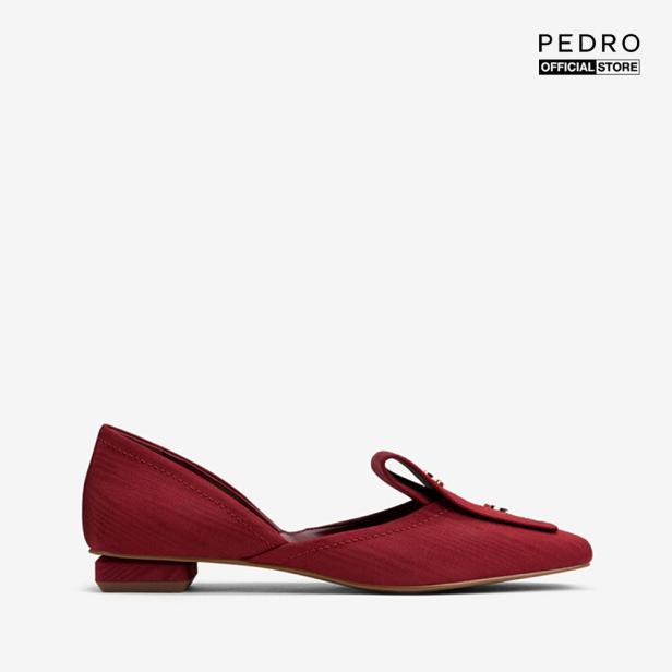 PEDRO - Giày đế bệt nữ mũi vuông Pumps With Gold Button PW1-65500053-45 giá rẻ