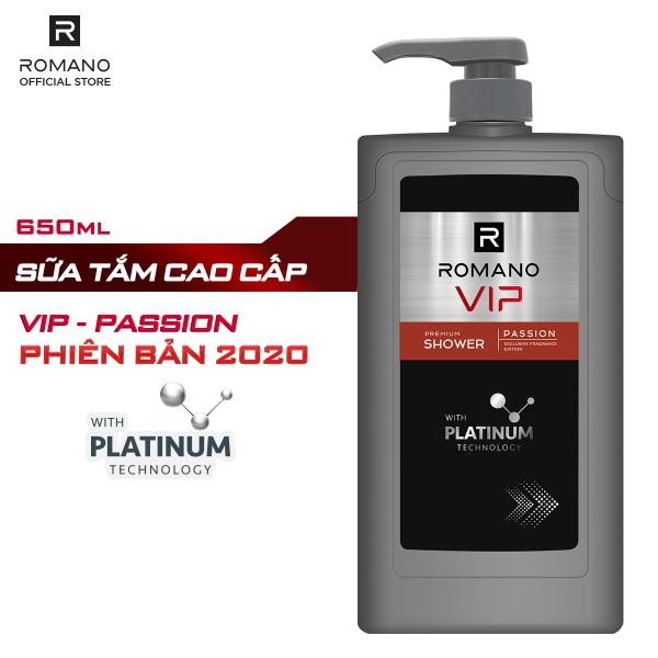 [MỚI] Sữa tắm cao cấp Romano Vip Passion mạnh mẽ bí ẩn 650g