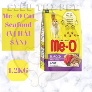 ( DINH DƯỠNG ) Me - O Cat Seafood - Thức ăn cho mèo vị hải sản 1.2KG thumbnail