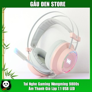 Tai nghe gaming Wangming 9800s âm thanh giả lập 7.1 USB LED thumbnail