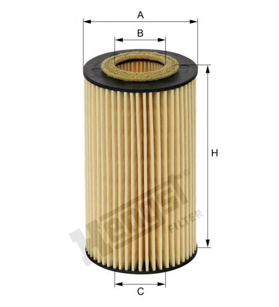 Lọc dầu Mer-Nissan (1121840425-15209-HG00A-6511800009-6511800109-6511800309-6511840025), Mã hengst:E11HD204
