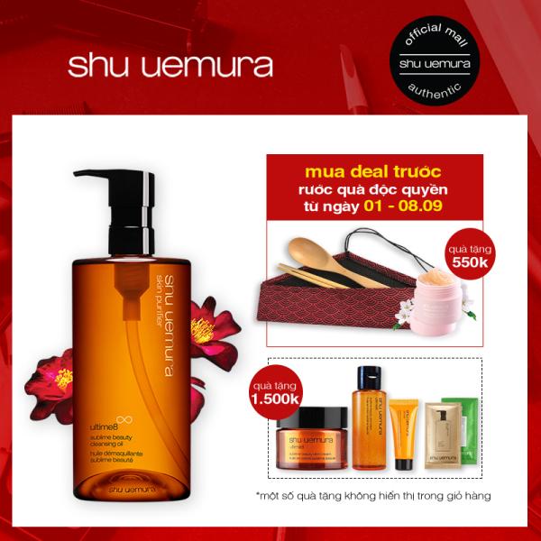 [deal mua trước] dầu làm sạch và tẩy trang cao cấp shu uemura ultime8 cleansing oil 450ml