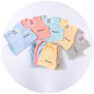 Bộ ba lỗ cotton gân avalew thoáng mát thích hợp mặc mùa hè cho bé (4-16kg) thumbnail