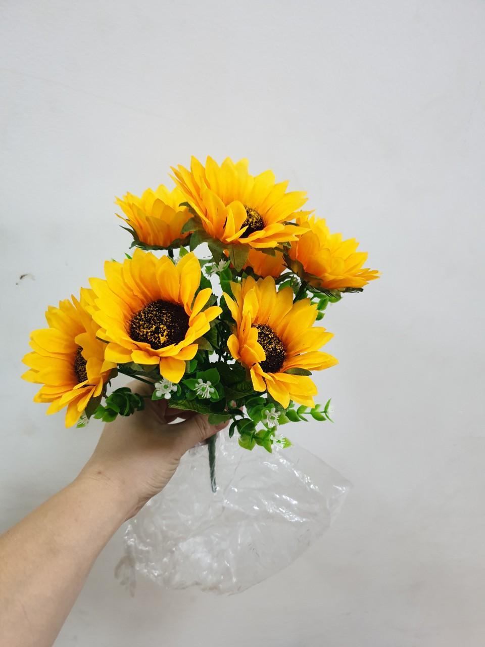 cụm hoa hướng dương 7 nhánh