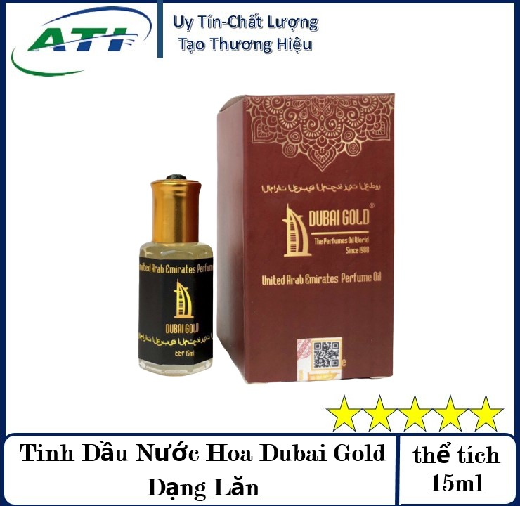 [Quà Tặng Kèm Hấp Dẫn] Nước Hoa DuBai Gold Chai 15ml Và Chai 5ml Dạng Lăn