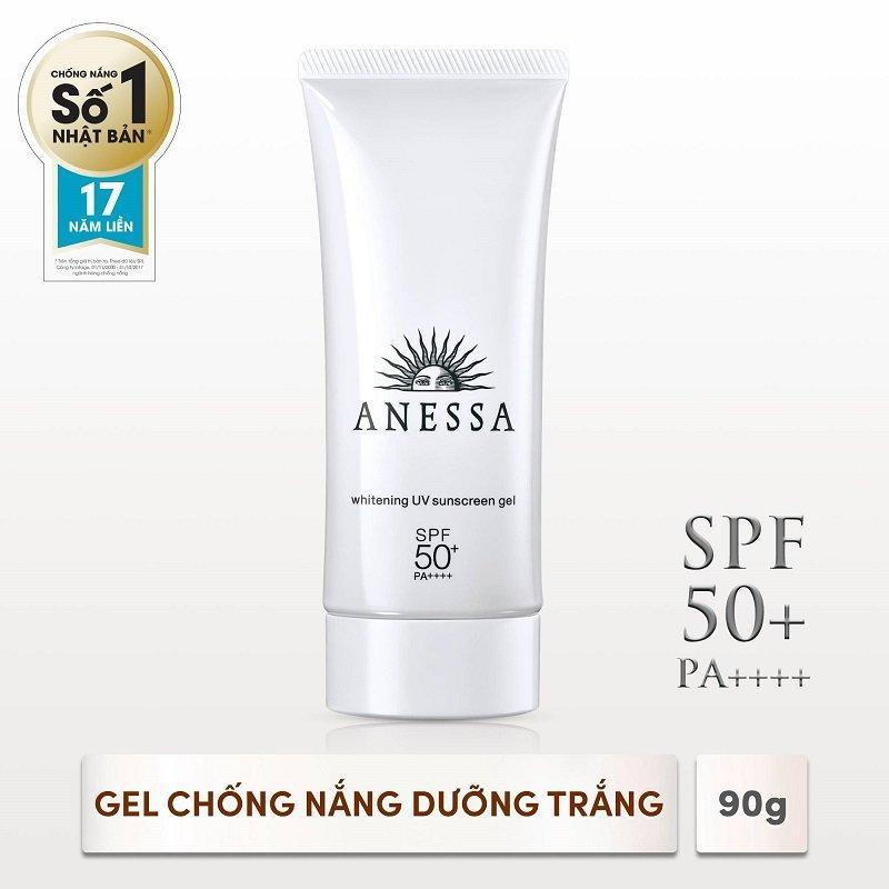Deal Khuyến Mại Kem Chống Nắng Anessa Shiseido Whitening UV Sunscreen Gel SPF50+ PA++++ 90gr