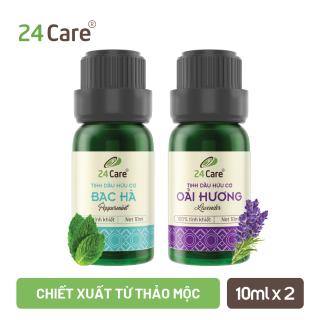 Combo 2 chai Tinh dầu Bạc Hà & Tinh dầu Hoa Lavender 24care 10ml thumbnail