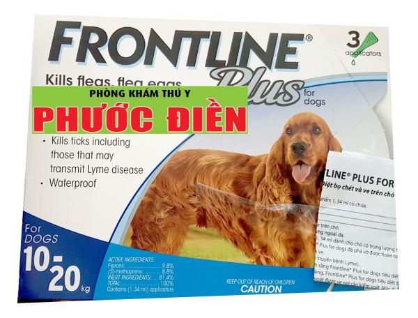 FRONTLINE PLUS (10-20 kg) - Loại bỏ bọ chét và ve cho Chó từ 10 - 20 kg