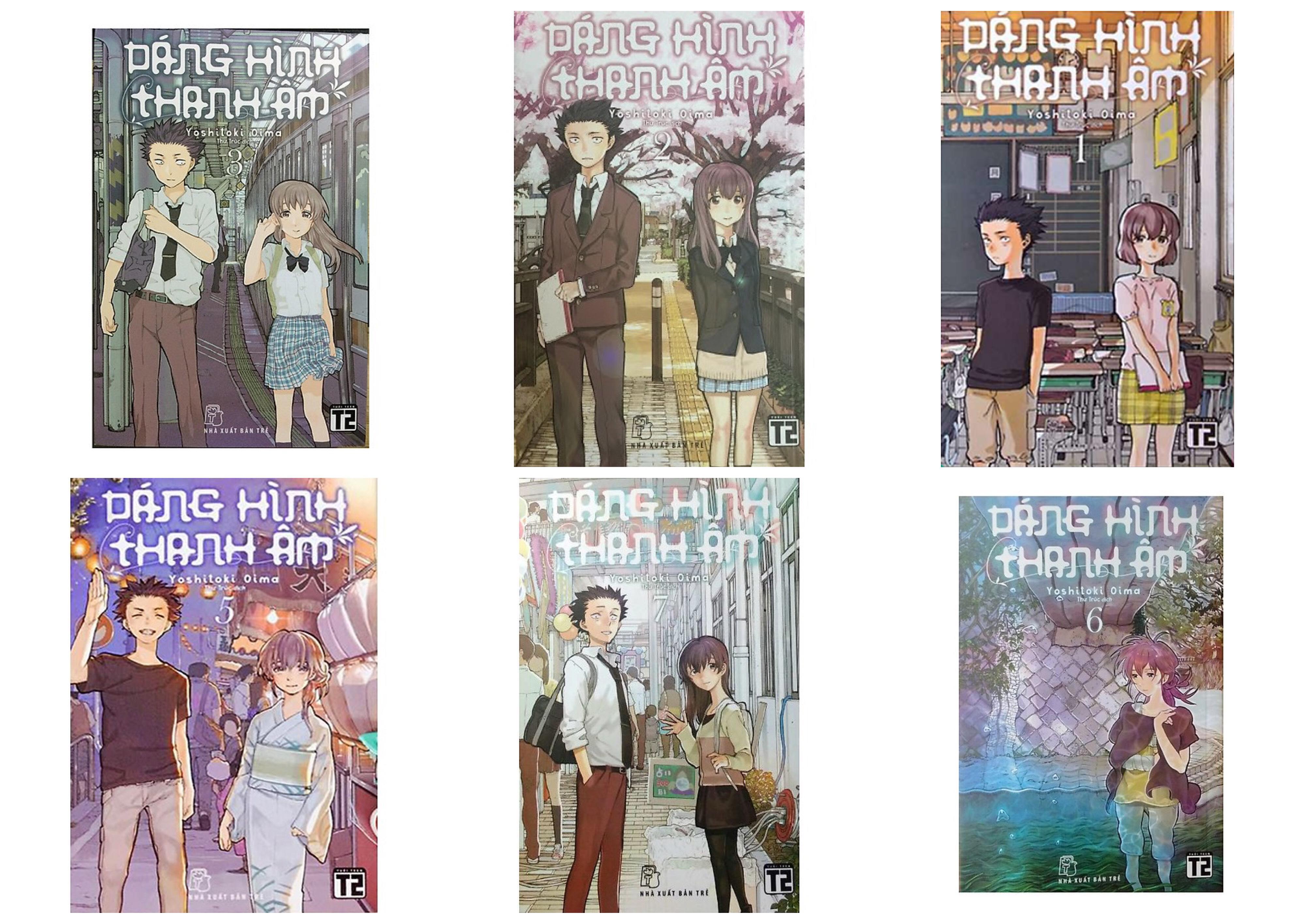 Truyện Tranh - Combo 6 Quyển Dáng Hình Thanh Âm (Tập 1,2,3,5,6,7) - Tặng Bookmark Kẹp Sách 10K - Hiệu Sách Cindy Giá Tốt Duy Nhất tại Lazada