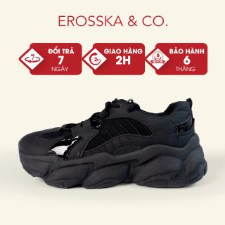 Giày thể thao nữ đế độn thời trang Erosska kiểu dáng Hàn Quốc năng động màu đen - ES004 thumbnail