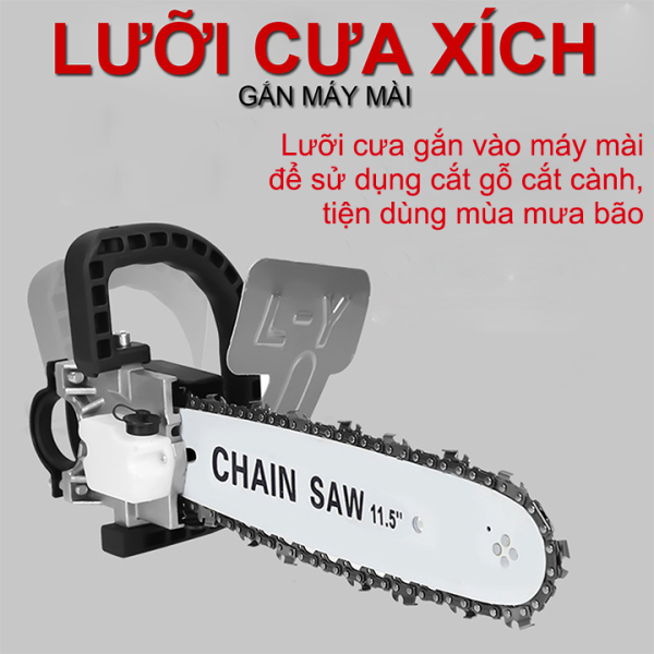 Lưỡi Cưa Xích - Bộ lưỡi cưa gắn máy mài góc - máy cắt gỗ - máy cưa xích giá rẻ
