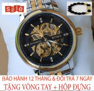 Đồng hồ nam BYINO M1 [TẶNG VÒNG TAY] [Liên quan cao cấp - đeo tay nam - đồng hồ đẹp - đồng hồ đôi - dây da - dong ho thuy sy giá rẻ đồng hồ cơ - đồng hồ thông minh - thể thao - dây thép - quai thép - quai da - dây lưới] thumbnail