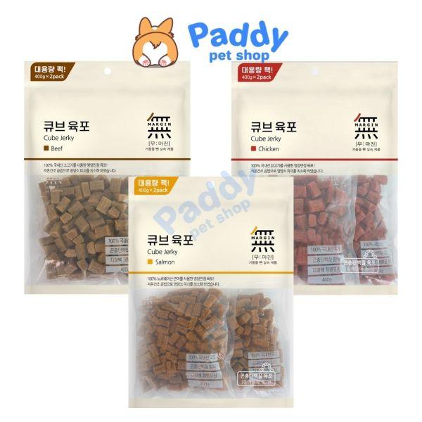 Thịt Viên Bowwow Cube Jerky Snack Cho Chó 800g