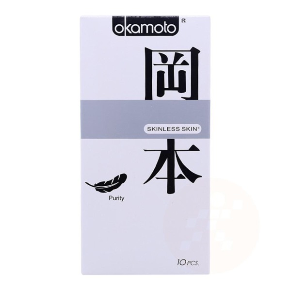 Bao Cao Su Okamoto Skinless Skin Purity Không Mùi Tinh Khiết Hộp 10 Cái