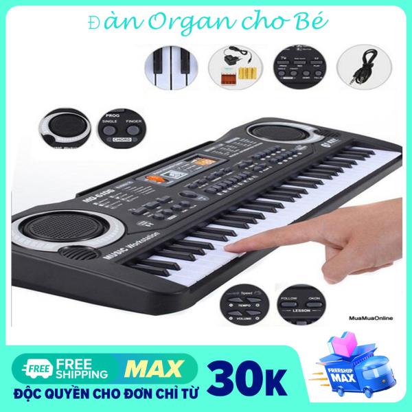 (ĐỒ CHƠI CHO BÉ) Đàn Organ 61 phím-Đồ chơi năng khiếu phát triển trí tuệ cho Bé- Đàn Ogan có mic  cho bé học đàn hát tại nha-Đàn kỹ thuật số Âm Thanh cực hay