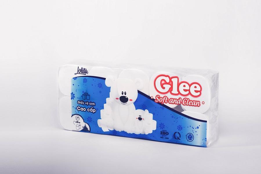 Giấy vệ sinh Glee 10 cuộn 3 lớp cao cấp không lõi