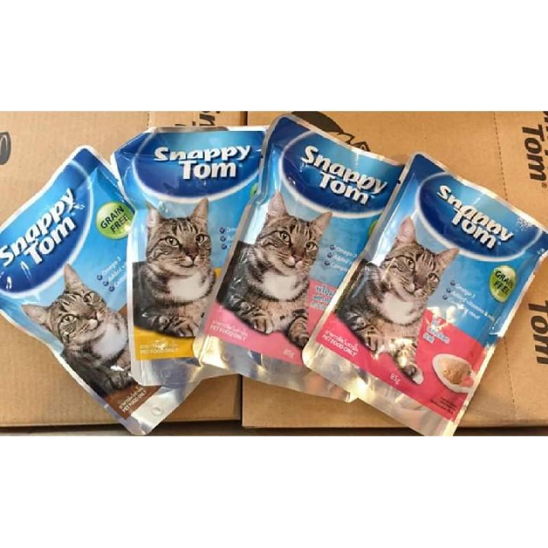 Pate SNAPPY TOM cho mèo gói 85g