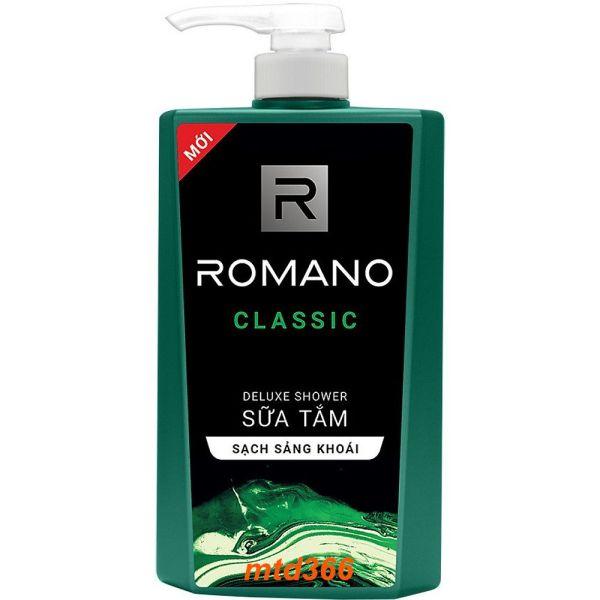 Sữa Tắm 650g Romano Classic Thơm Hương Nước Hoa Làm Sạch Sảng Khoái