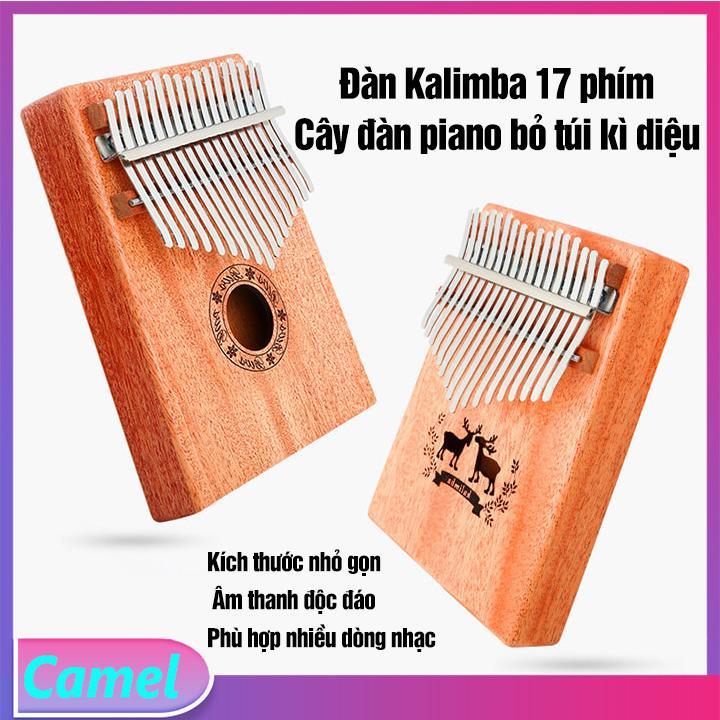 Đàn Kalimba - Đàn Kalimba 17 Phím- Đàn Thumb Piano- Phù Hợp Nhiều Dòng Nhạc- Âm Thanh Độc Đáo- Dễ Học - Camel Vn