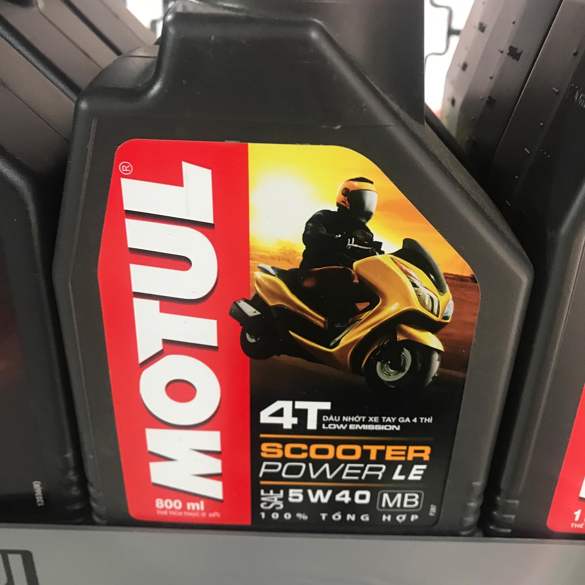 Nhớt Motul 4T Scooter Power Le 5W40 TỔNG HỢP 100% Dành Cho Xe Tay Ga Với Giá Sốc