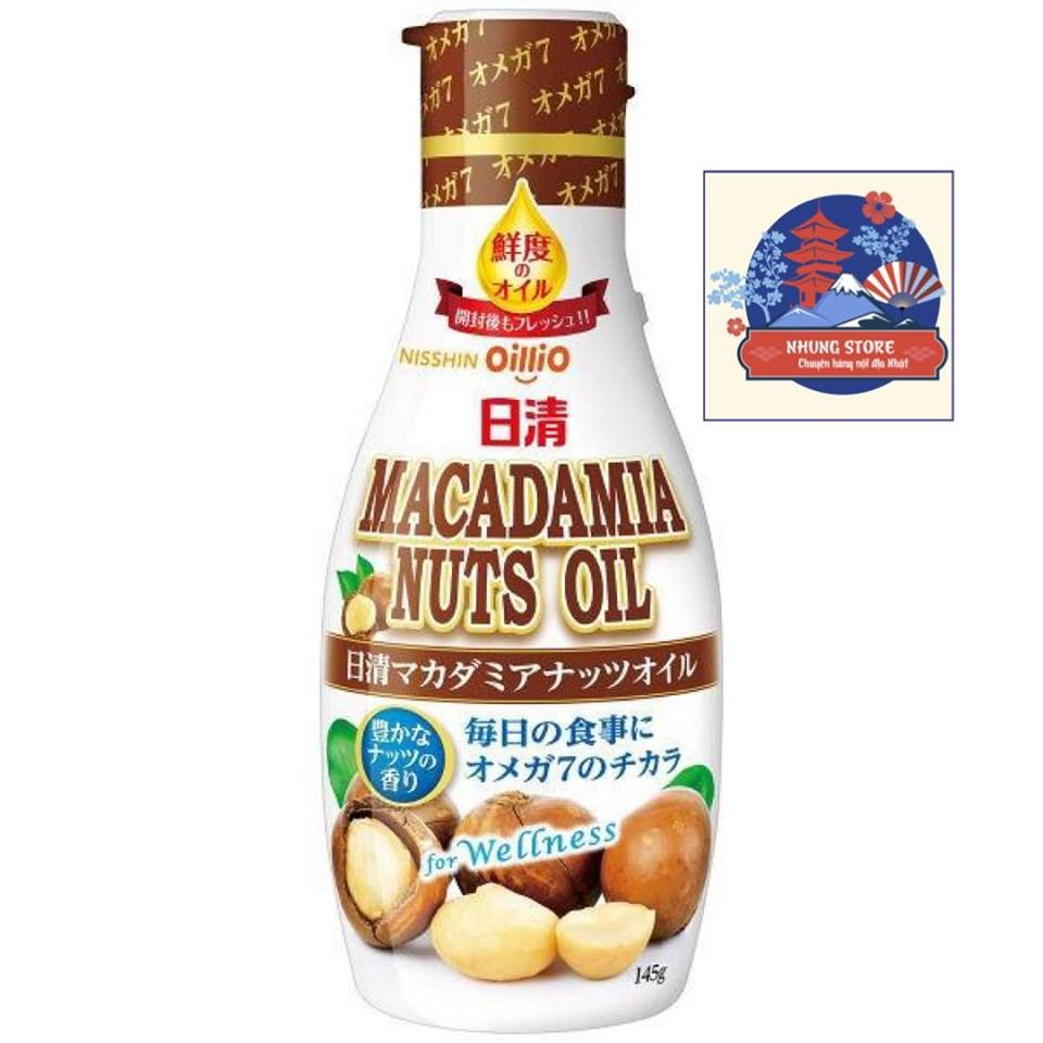 Dầu ăn hạt Macca Nisshin Nhật 145gr